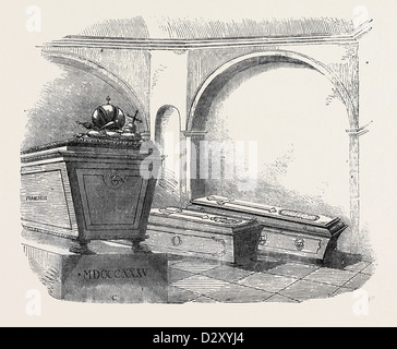 TOMB OF NAPOLEON II., IN THE IMPERIAL VAULT, IN THE CHURCH OF THE CAPUCHINS, AT VIENNA - Stock Photo