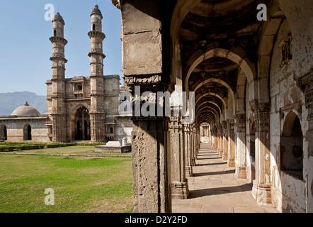 Jama Masjid mosque. Champaner Pavagadh archaeological park. Gujarat. India - Stock Photo