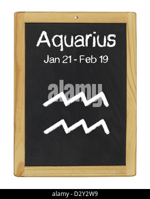 zodiac sign Aquarius - Stock Photo