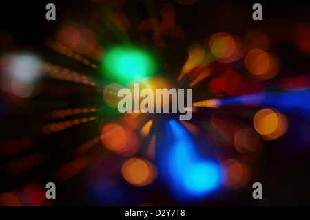 Abstract background with colorful spheres of defocused illumination - Stock Photo
