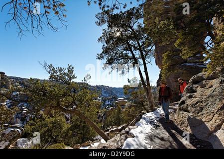 Hiking in Chiricahua National Monument, Arizona - Stock Photo