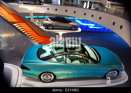 Mercedes Museum in Stuttgart, Germany - Stock Photo