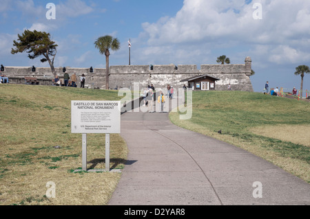 St. Augustine Florida. Castillo De San Marcos National Monument. - Stock Photo
