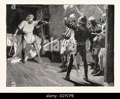 RICHARD ASSAILED BY THE AUSTRIAN SOLDIERS - Stock Photo