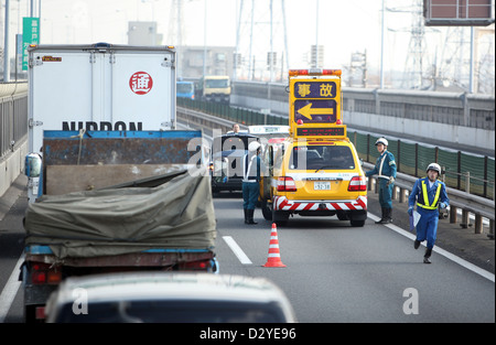 Rescue Workers Are On The Scene Of An Accident On Autobahn A61 Stock Photo 55150442 Alamy