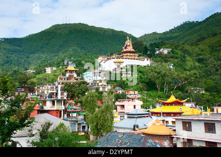 Padmasambhava temple, who is recognized as the second Buddha of this age, India - Stock Photo