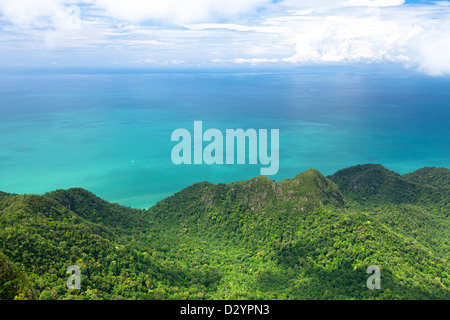 Langkawi island from the top, Malaysia. - Stock Photo
