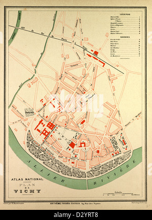 Map Of Vichy France Stock Photo 210027431 Alamy