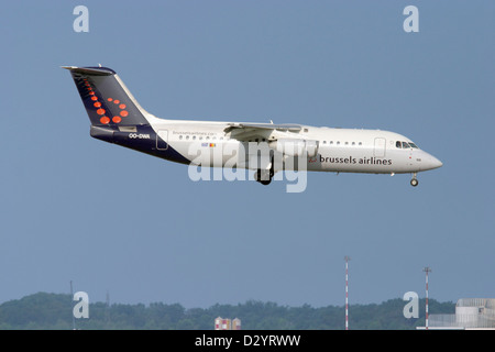 Brussels Airlines, Aerospace BAE 146-300 Avro RJ100 - Stock Photo
