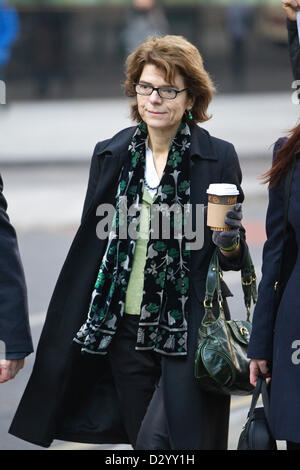 5th February 2013. Vicky Price, Southwark Crown Court, London, UK Picture shows Vicky Pryce arriving at Southwark - Stock Photo