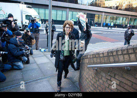 5th February 2013. Southwark Crown Court, London, UK.  Picture shows Vicky Pryce arriving at Southwark Crown Court - Stock Photo