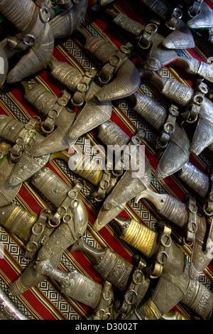 Khanjar Omani Knife Shopping Muttrah Souk Oman - Stock Photo