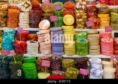 Handmade soap. Background. - Stock Photo