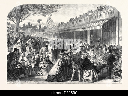 THE GARDENS OF THE ZOOLOGICAL SOCIETY REGENT'S PARK LONDON UK ON WHIT MONDAY 1866 - Stock Photo