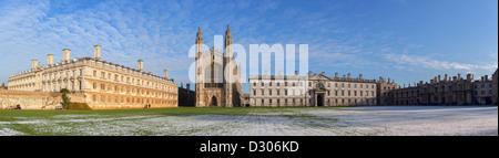 Kings College Panorama, Cambridge University, England, UK - Stock Photo