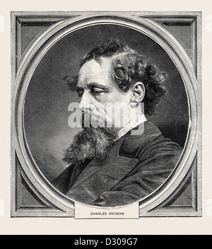 CHARLES DICKENS, BORN AT PORTSMOUTH, 7 FEBRUARY, 1812; DIED AT GAD'S HILL, KENT, 9 JUNE, 1870 - Stock Photo