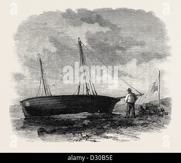 THE BOAT 'JOHN T. FORD' WHICH CROSSED THE ATLANTIC 1867 - Stock Photo