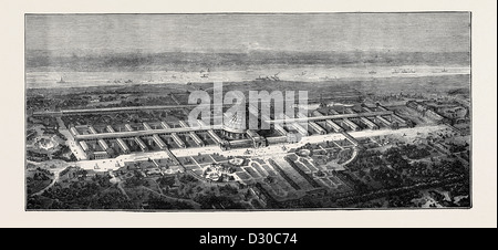 THE PROPOSED UNIVERSAL EXHIBITION OF 1873 AT VIENNA - Stock Photo