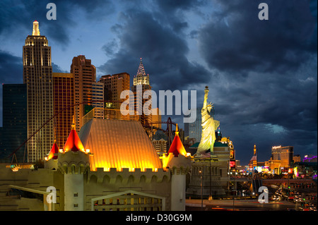 Las Vegas skyline.at night. Nevada - Stock Photo