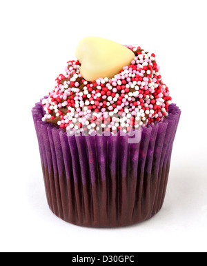 Valentine's Day Cupcake - Stock Photo