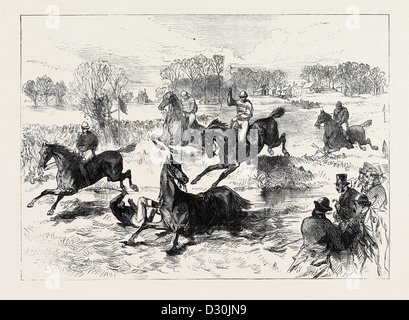 THE WINDSOR STEEPLECHASE 1869 - Stock Photo