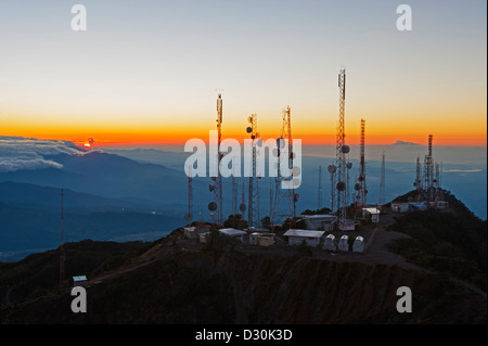 view from summit of Volcan Baru, panama - Stock Photo