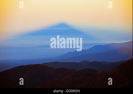 view from summit Volcan Baru, panama shadow - Stock Photo