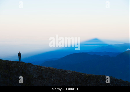 view from the summit of Volcan Baru, panama - Stock Photo