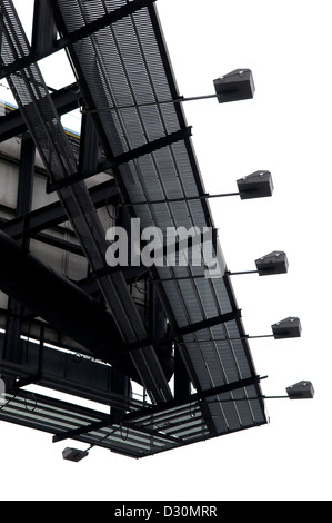 Detail of billboard signage with white sky. - Stock Photo