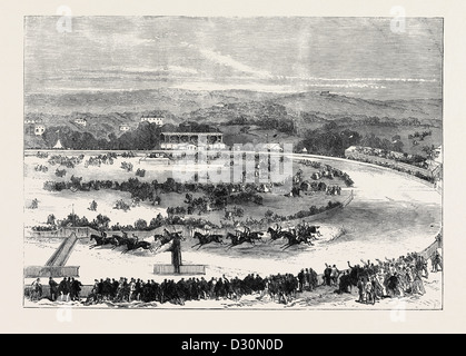 CORK PARK RACES: THE GRAND NATIONAL STEEPLECHASE 1869 - Stock Photo