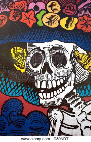 La catrina dia de los muertos day of the dead old town for Dia de los muertos mural