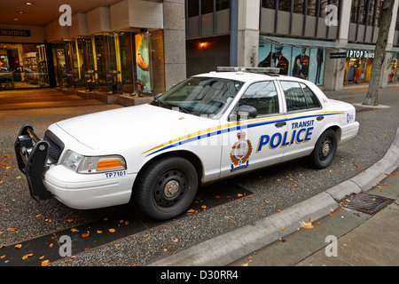 Vancouver transit police squad patrol car vehicle BC Canada - Stock Photo