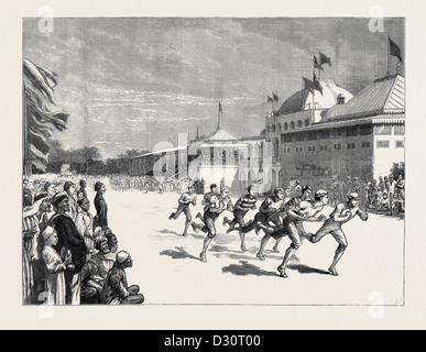 BRITISH ATHLETIC SPORTS AT ALEXANDRIA: ASTONISHING THE NATIVES - Stock Photo