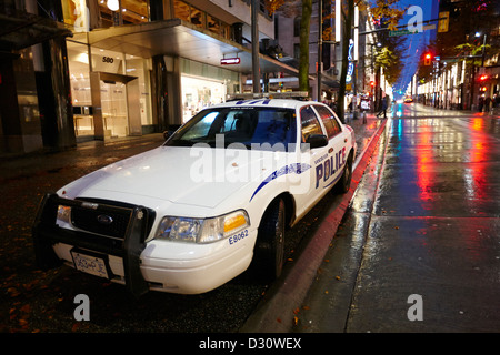 Vancouver police squad patrol car vehicle BC Canada - Stock Photo