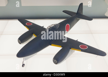 Nakajima Kikka fighter aircraft model - Stock Photo