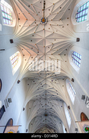 Cathedral in Oliwa, church. Holy Trinity, St. Mary and St. Bernarda in Gdańsk, ceiling, Poland - Stock Photo