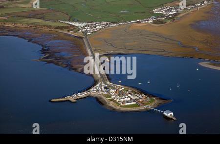 aerial view of Roa Island near Barrow-in-Furness, Cumbria - Stock Photo