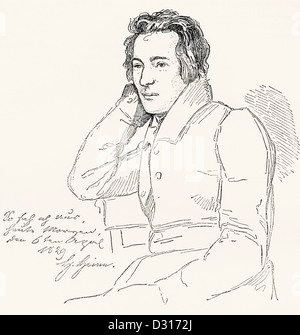 Heinrich Heine , 1797 –1856. German poet, journalist, essayist and literary critic. - Stock Photo