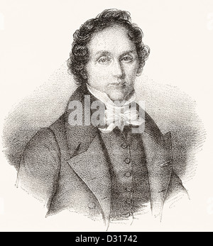 Jean-François Casimir Delavigne, 1793 – 1843. French poet and dramatist. - Stock Photo