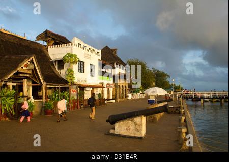 Lamu waterfront, Lamu Archipelago, Kenya - Stock Photo