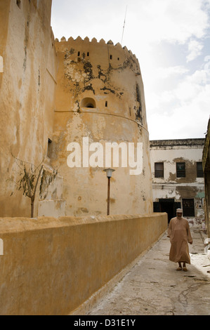 The Fort, Lamu, Lamu Archipelago, Kenya - Stock Photo