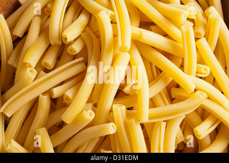Maccheroni in its classic Italian form - Stock Photo