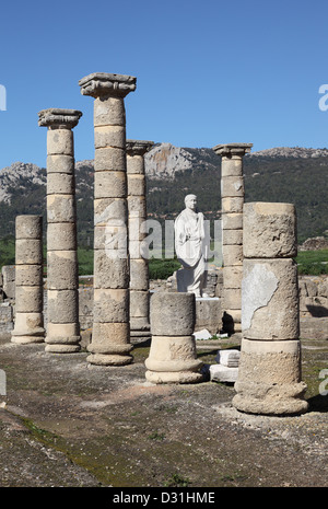 Baleo Claudia - roman ruins in Bolonia, Andalusia, southern Spain - Stock Photo
