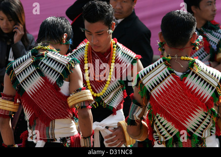 571aac6940 ... Young men from Angami Naga tribe dressed in traditional clothes,  Kohima, Nagaland, Northeast