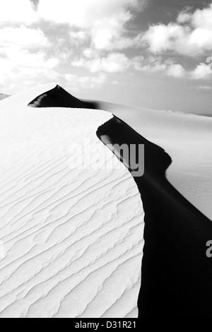 Te Paki giant sand dunes near Cape Reinga in the Far North - Stock Photo