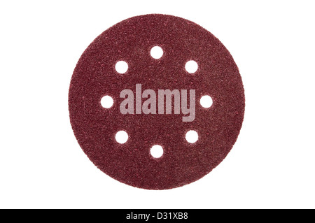 sandpaper with holes isolated on white background - Stock Photo