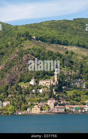 Morcote, Lake Lugano, Switzerland, Europe - Stock Photo