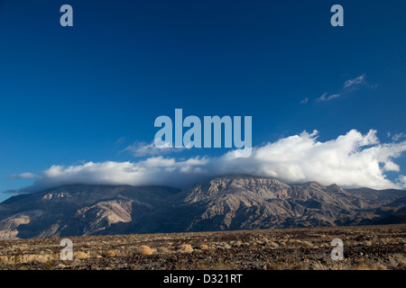 Death Valley National Park, California - Clouds over the Panamint Mountains. - Stock Photo