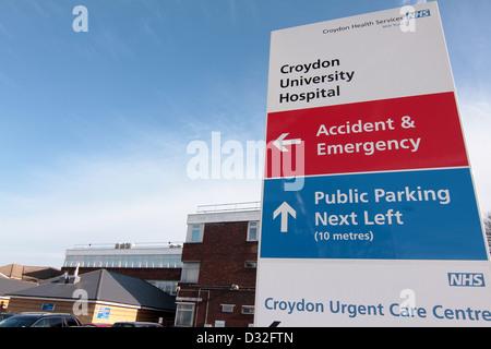 Croydon University (Mayday) Hospital NHS Trust in Croydon Greater London United Kingdom - Stock Photo