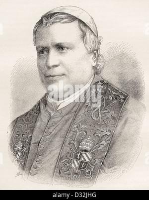 Pope Pius IX, born Giovanni Maria Mastai-Ferretti, 1792 –1878. - Stock Photo